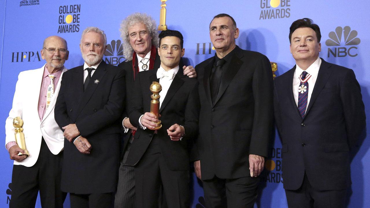 In foto Rami Malek (40 anni) Dall'articolo: Golden Globe 2019, doppio premio a Bohemian Rhapsody.