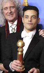 In foto Rami Malek (38 anni) Dall'articolo: Golden Globe 2019, doppio premio a Bohemian Rhapsody.