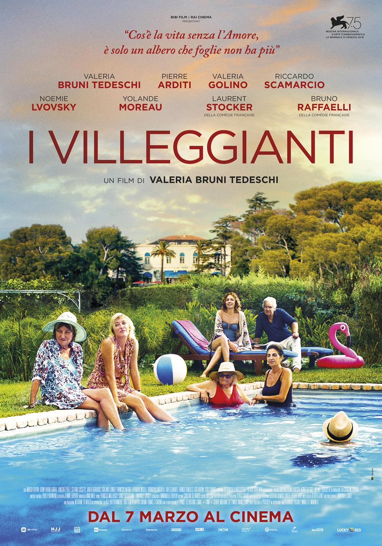 In foto Valeria Bruni Tedeschi (57 anni) Dall'articolo: I villeggianti, il poster italiano del film.