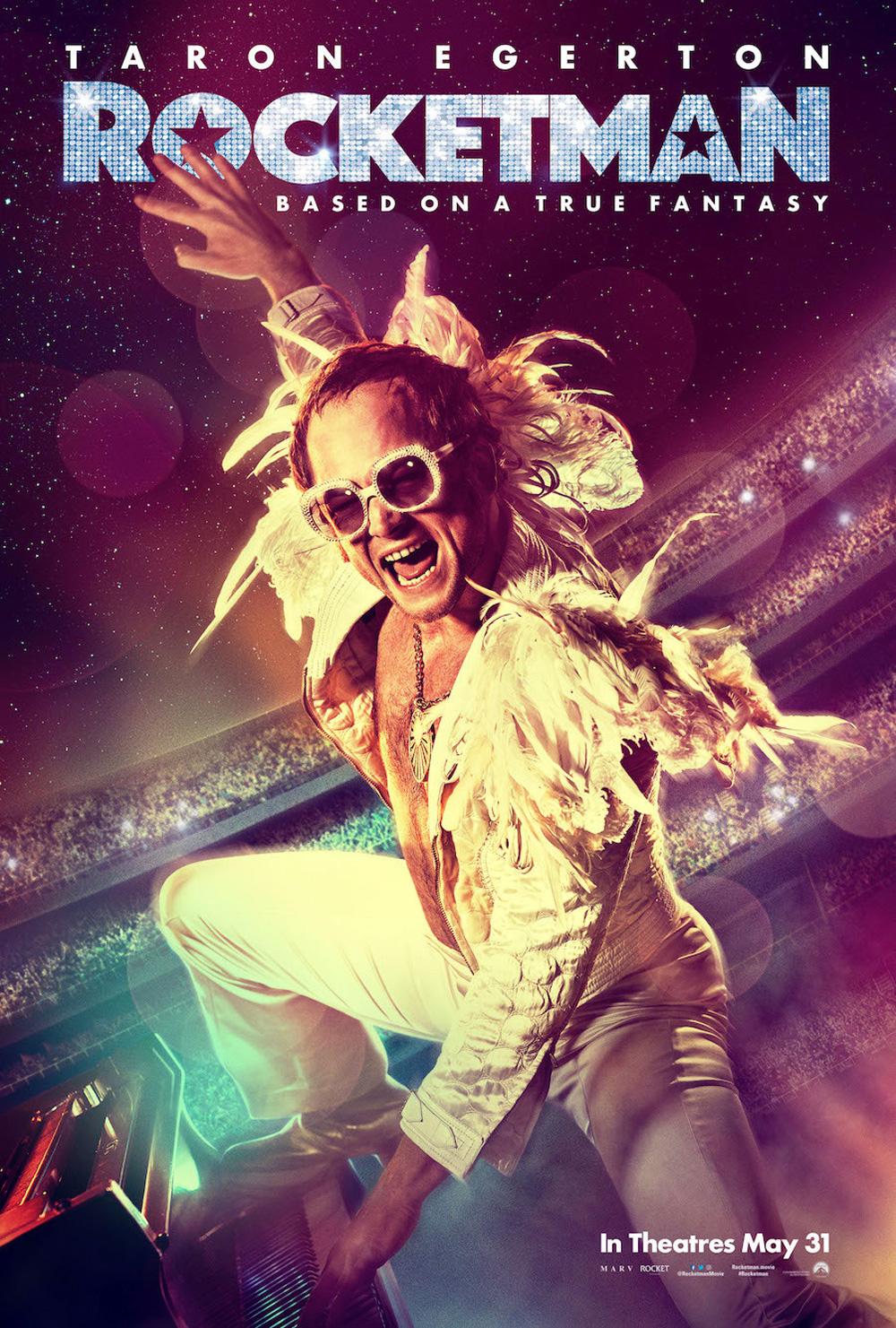 In foto Taron Egerton (31 anni) Dall'articolo: Rocketman, il poster originale del film.