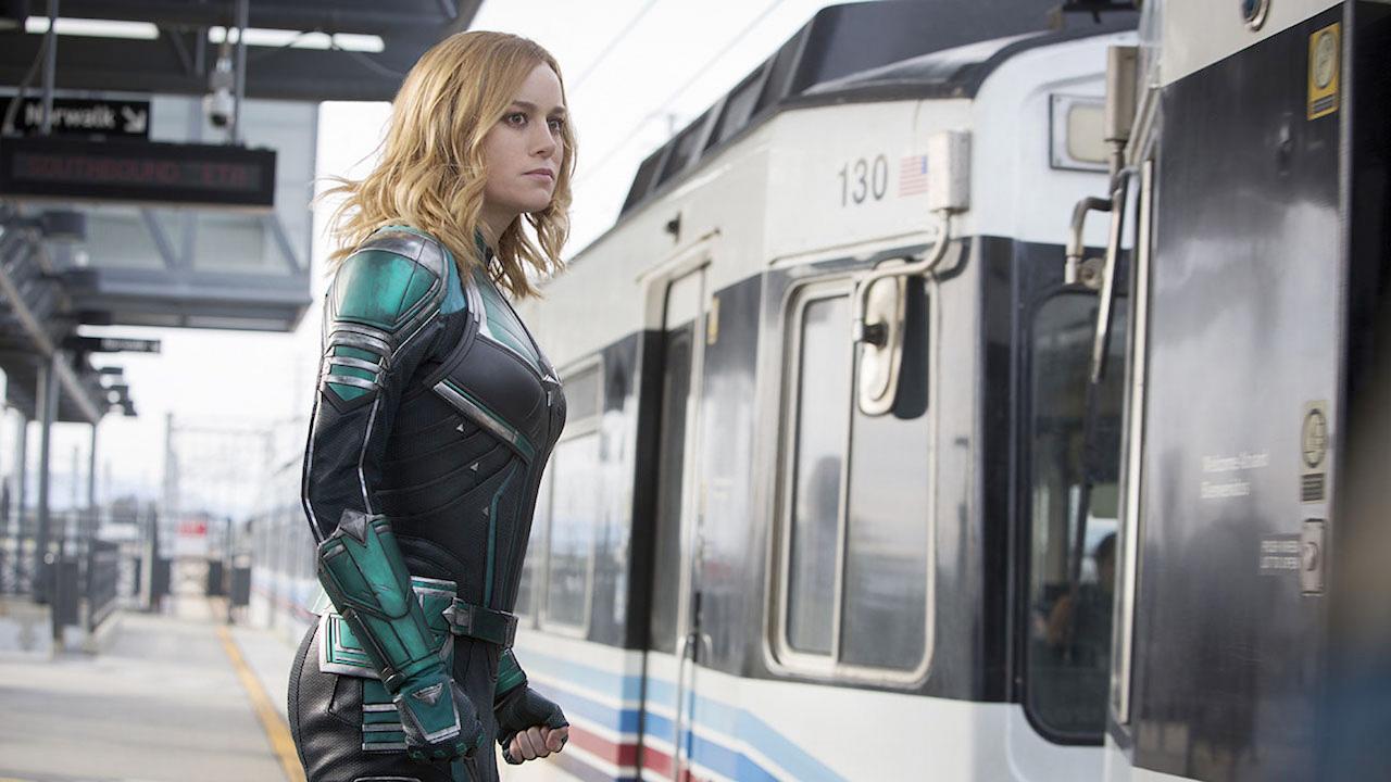 In foto Brie Larson (30 anni) Dall'articolo: Captain Marvel va meglio del previsto: i 10 milioni sono probabili.