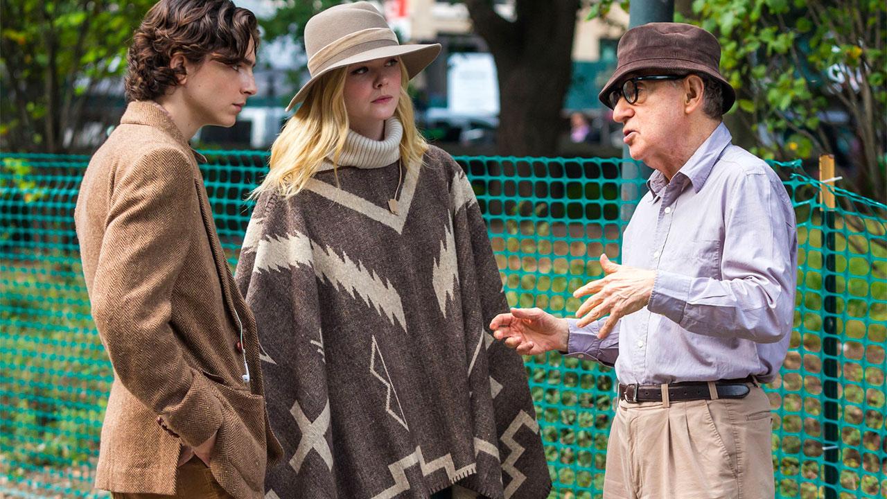 In foto Woody Allen (85 anni) Dall'articolo: Un Giorno di Pioggia a New York, da giovedì 28 novembre al cinema.