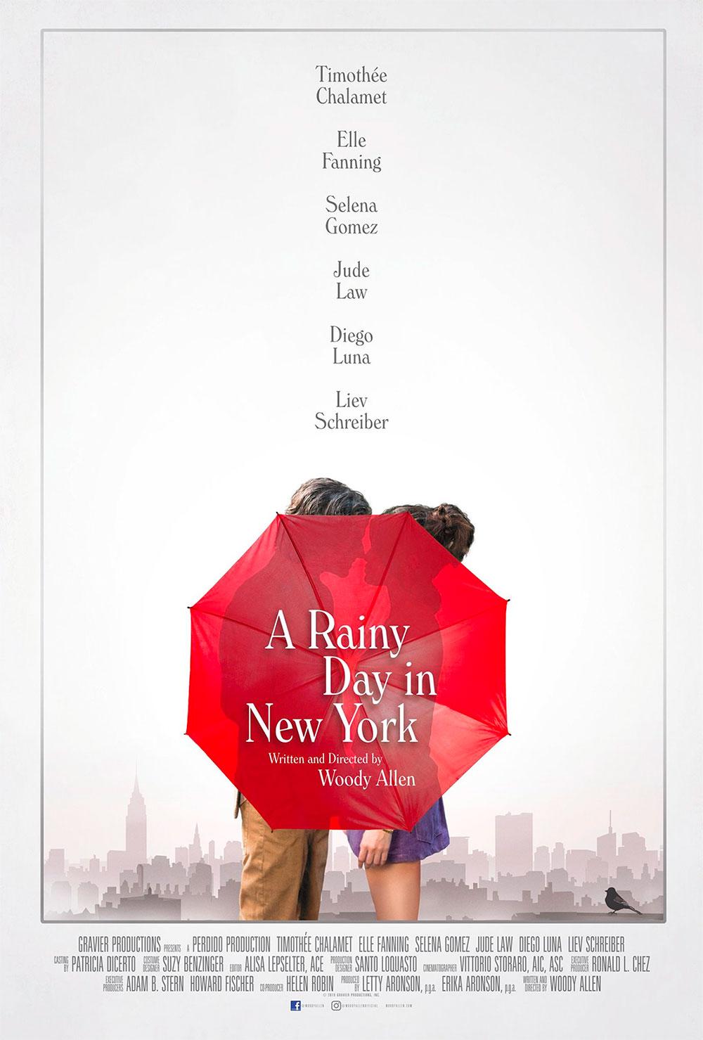 -  Dall'articolo: Un Giorno di Pioggia a New York, il poster originale del film.