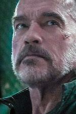 In foto Arnold Schwarzenegger (72 anni) Dall'articolo: Terminator - Destino Oscuro, il teaser trailer italiano del film [HD].