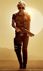 In foto Linda Hamilton (63 anni) Dall'articolo: Terminator - Destino Oscuro, «cupo, violento, veloce, intenso e lineare». Parola di Cameron.