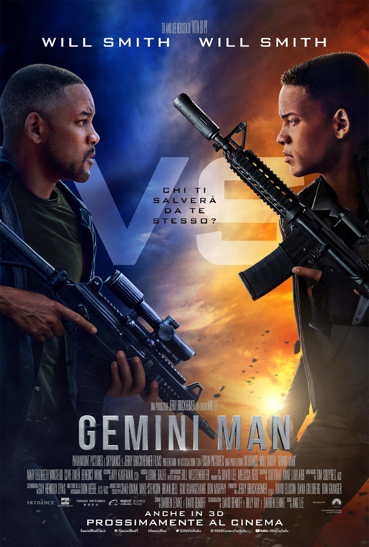 -  Dall'articolo: Gemini Man, il poster italiano del film.
