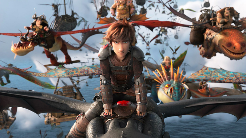 In foto una scena del film Dragon Trainer - Il mondo nascosto. -  Dall'articolo: Dragon Trainer - Il mondo nascosto: l'addio a Hiccup e all'amico Sdentato.