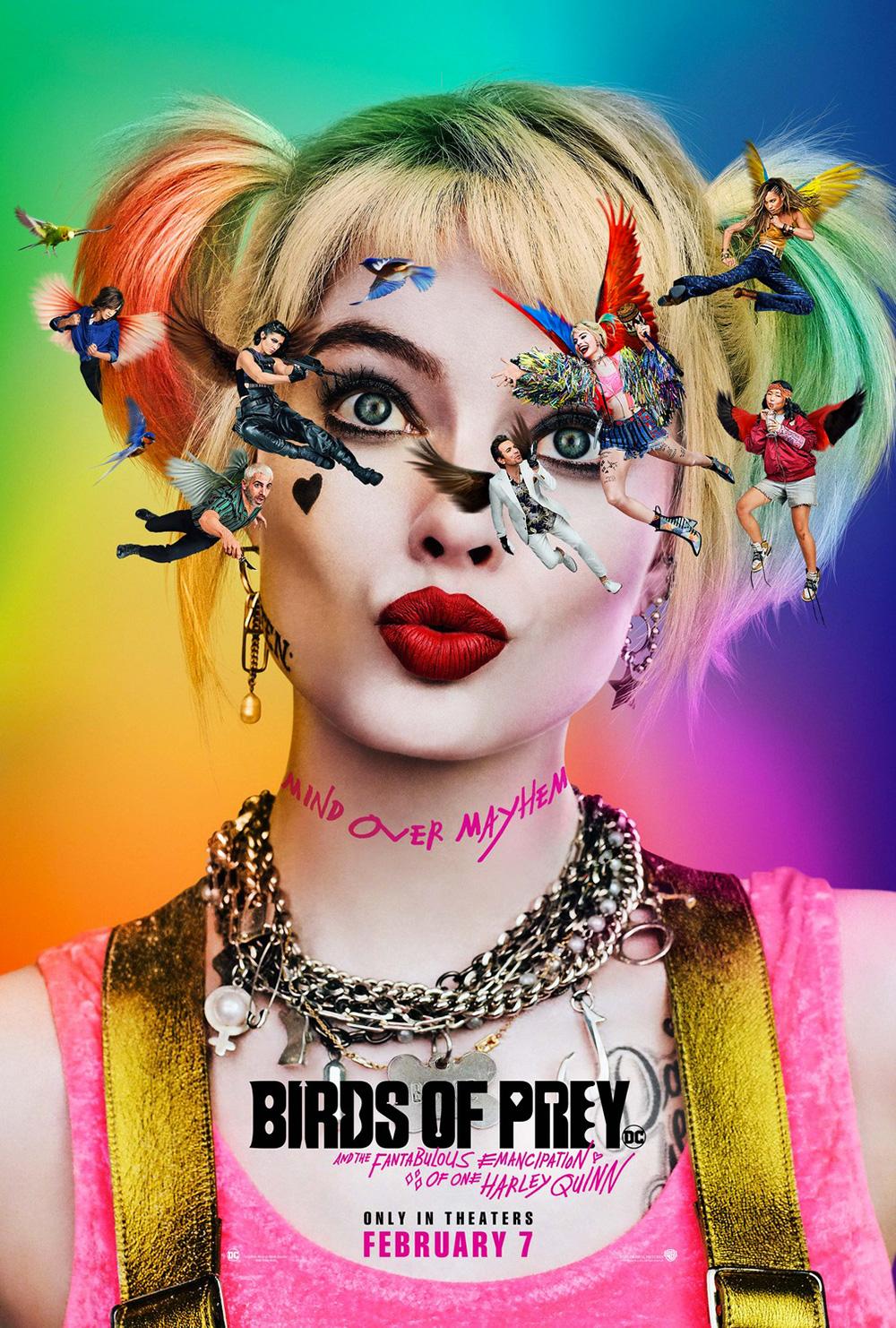 In foto Margot Robbie (31 anni) Dall'articolo: Birds of Prey (E la Fantasmagorica Rinascita di Harley Quinn), il poster originale del film.