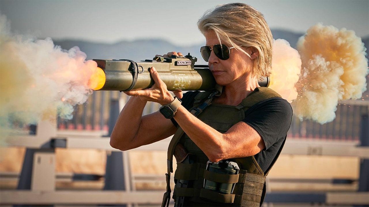 In foto Linda Hamilton (63 anni) Dall'articolo: Terminator - Destino Oscuro, il trailer italiano ufficiale del film [HD].