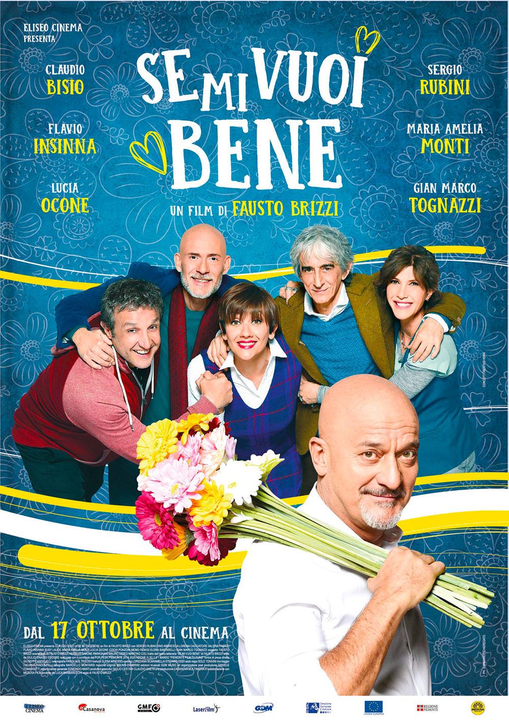 In foto Sergio Rubini (62 anni) Dall'articolo: Se mi vuoi Bene, il poster ufficiale del film.