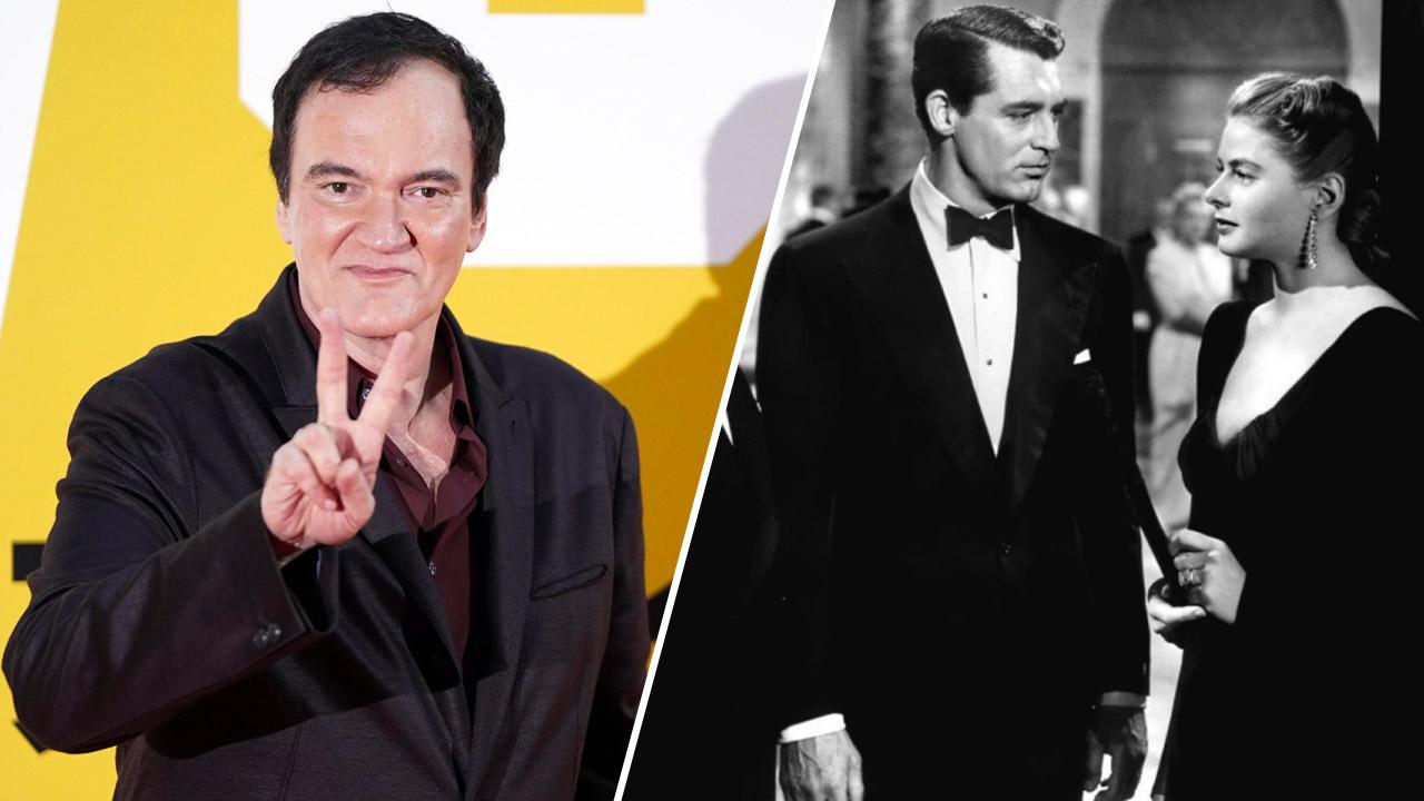 In foto Quentin Tarantino (57 anni) Dall'articolo: E se Tarantino rigirasse Notorious? Che remake! da storia del cinema.