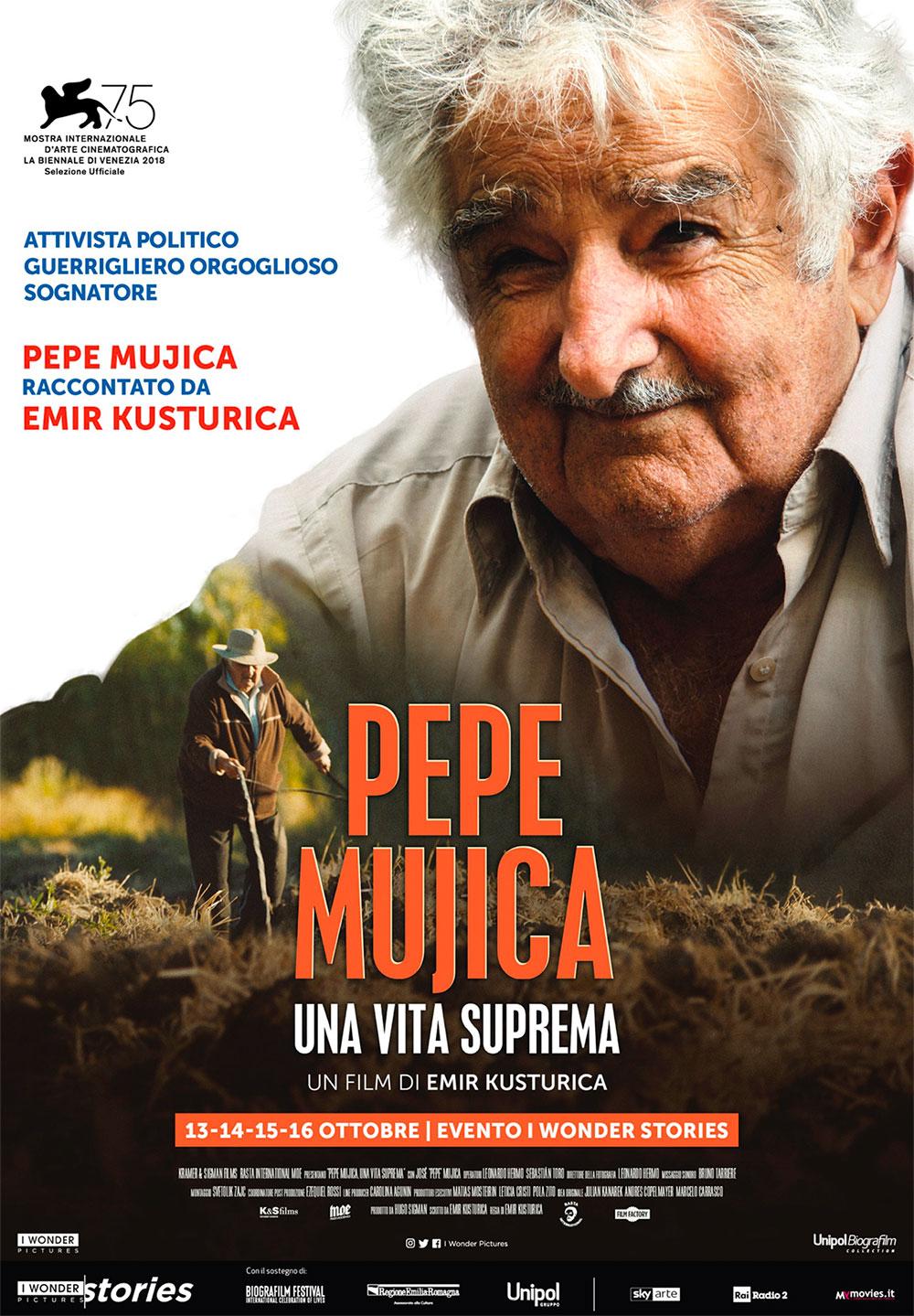 -  Dall'articolo: Pepe Mujica - Una Vita Suprema, il poster italiano del film.