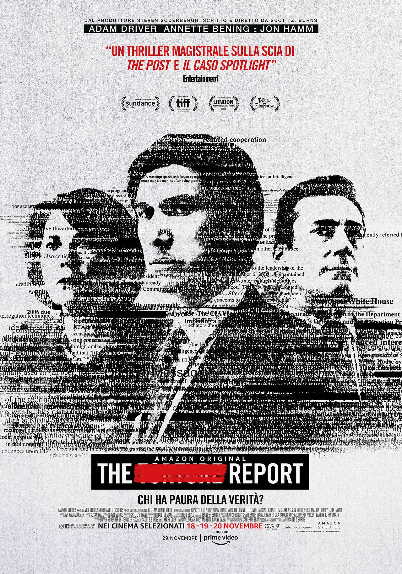 -  Dall'articolo: The Report, il poster italiano del film.