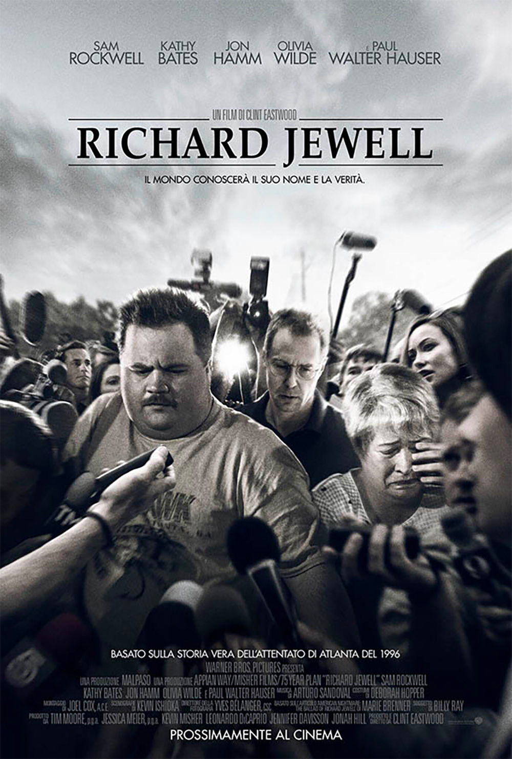 In foto Paul Walter Hauser (35 anni) Dall'articolo: Richard Jewell, il poster italiano del film.