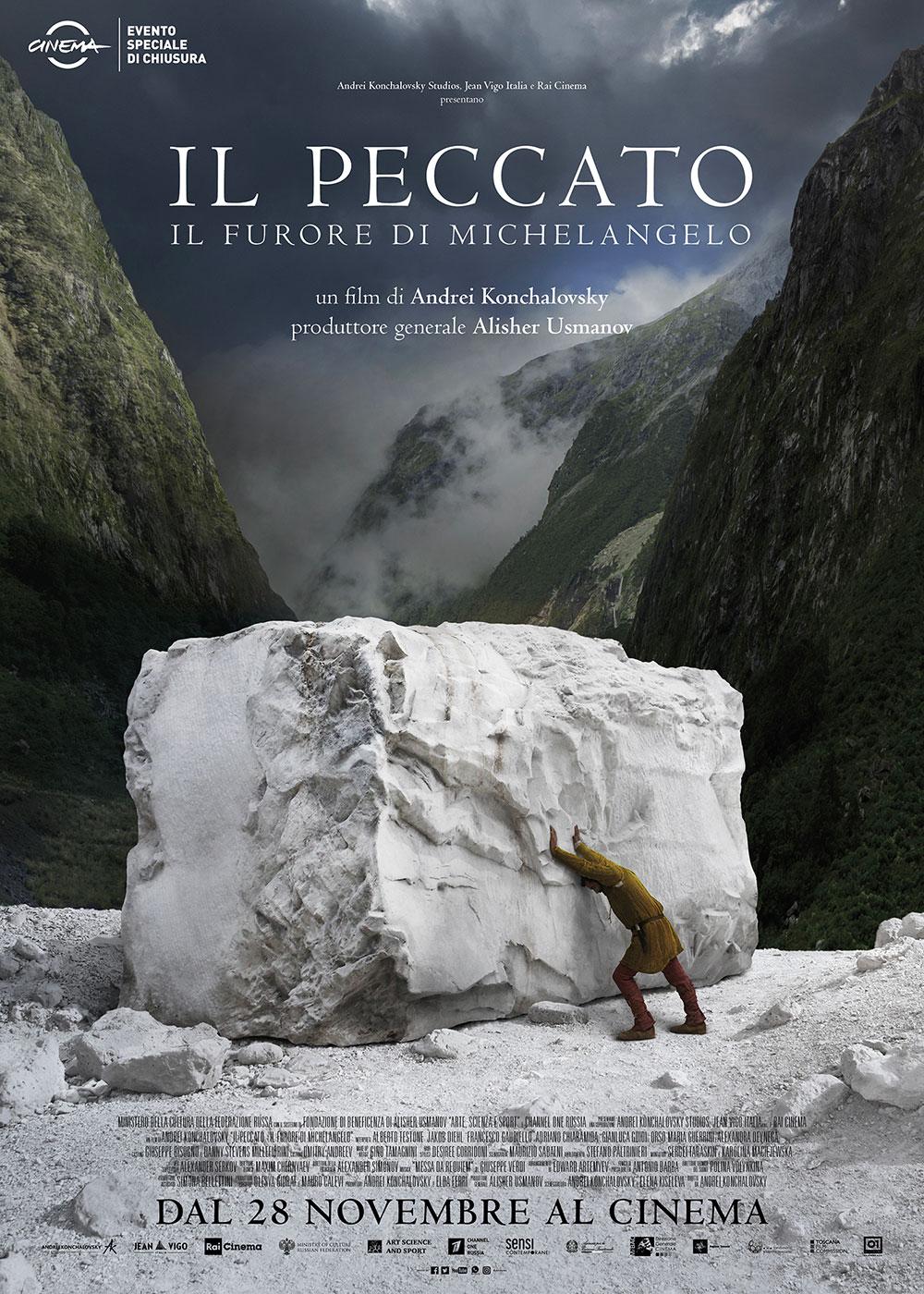 In foto Andrey Konchalovskiy (83 anni) Dall'articolo: Il Peccato - Il Furore di Michelangelo, il poster ufficiale del film.