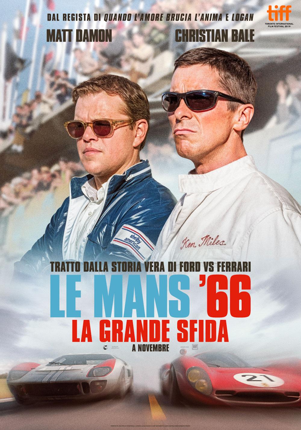 In foto Matt Damon (51 anni) Dall'articolo: Le Mans '66 - La Grande Sfida, il poster italiano del film.