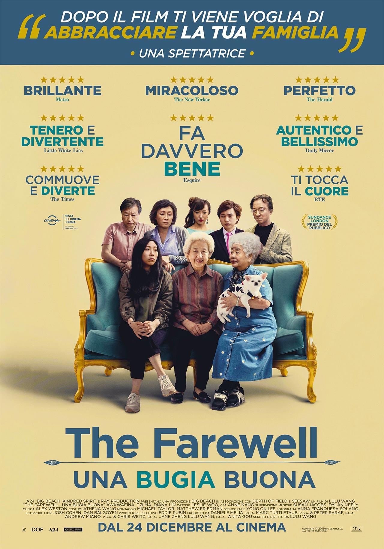 The Farewell - Una bugia buona, il trailer e il poster italiani ...
