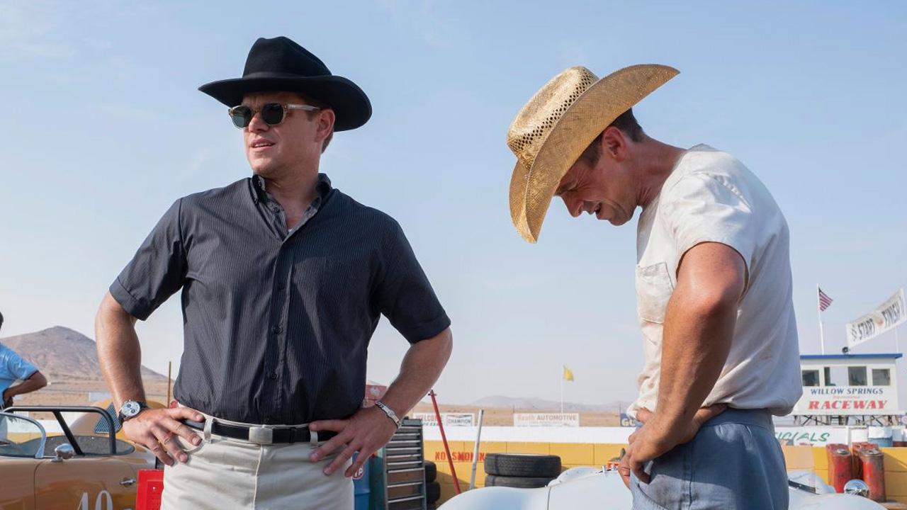 In foto Christian Bale (47 anni) Dall'articolo: Le Mans '66 sorpassa Le ragazze di Wall Street e vince al Box Office.