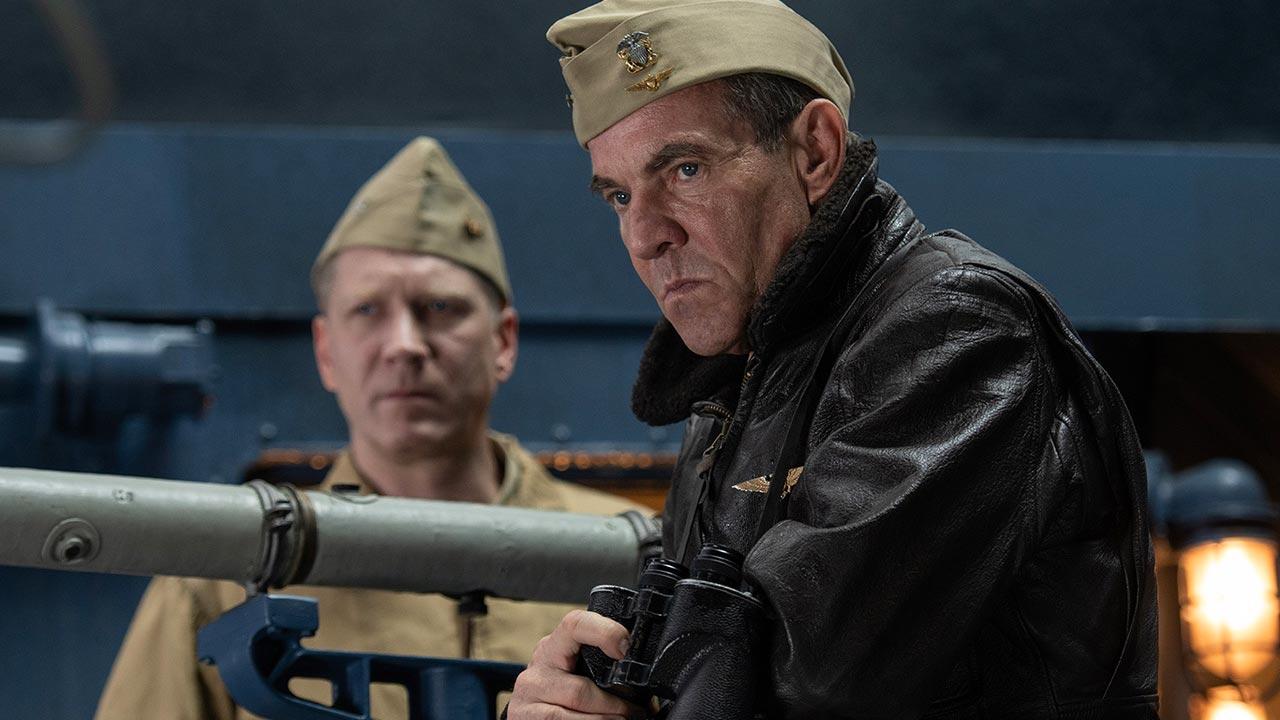In foto Dennis Quaid (66 anni) Dall'articolo: Midway, una featurette inedita ricca di interviste e scene spettacolari.