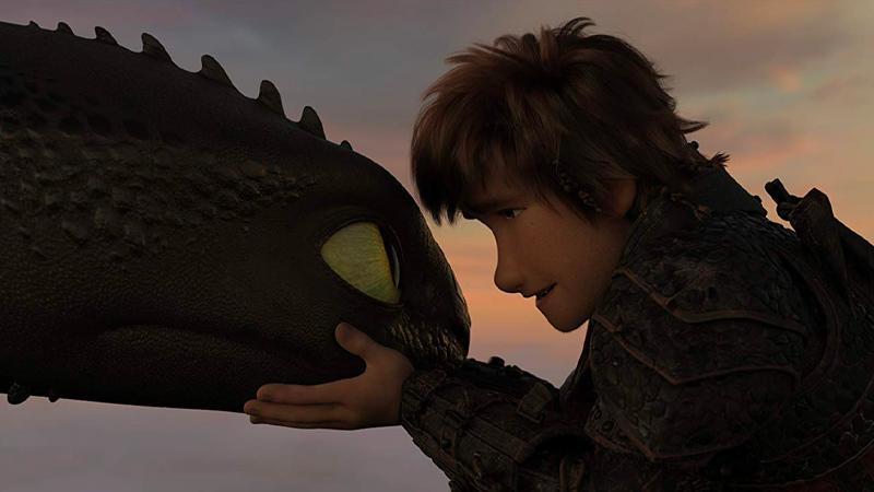 In foto una scena del film Dragon Trainer - Il mondo nascosto. -  Dall'articolo: Cinema, tv e streaming: come programmare le feste di Natale e fare il pieno di film e serie tv.