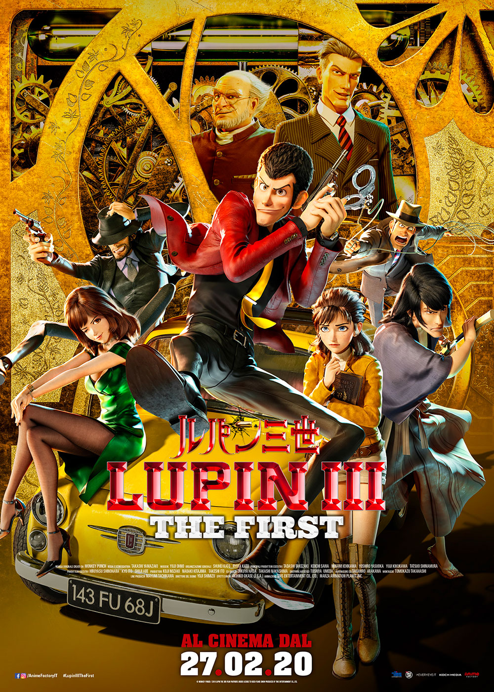 Lupin III - The First, il poster italiano del film