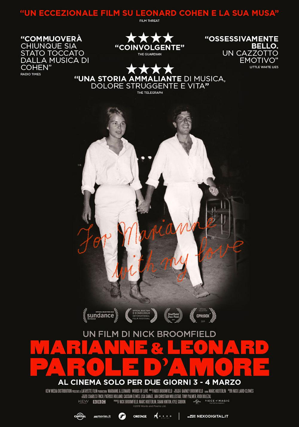 MARIANNE & LEONARD, PAROLE D'AMORE