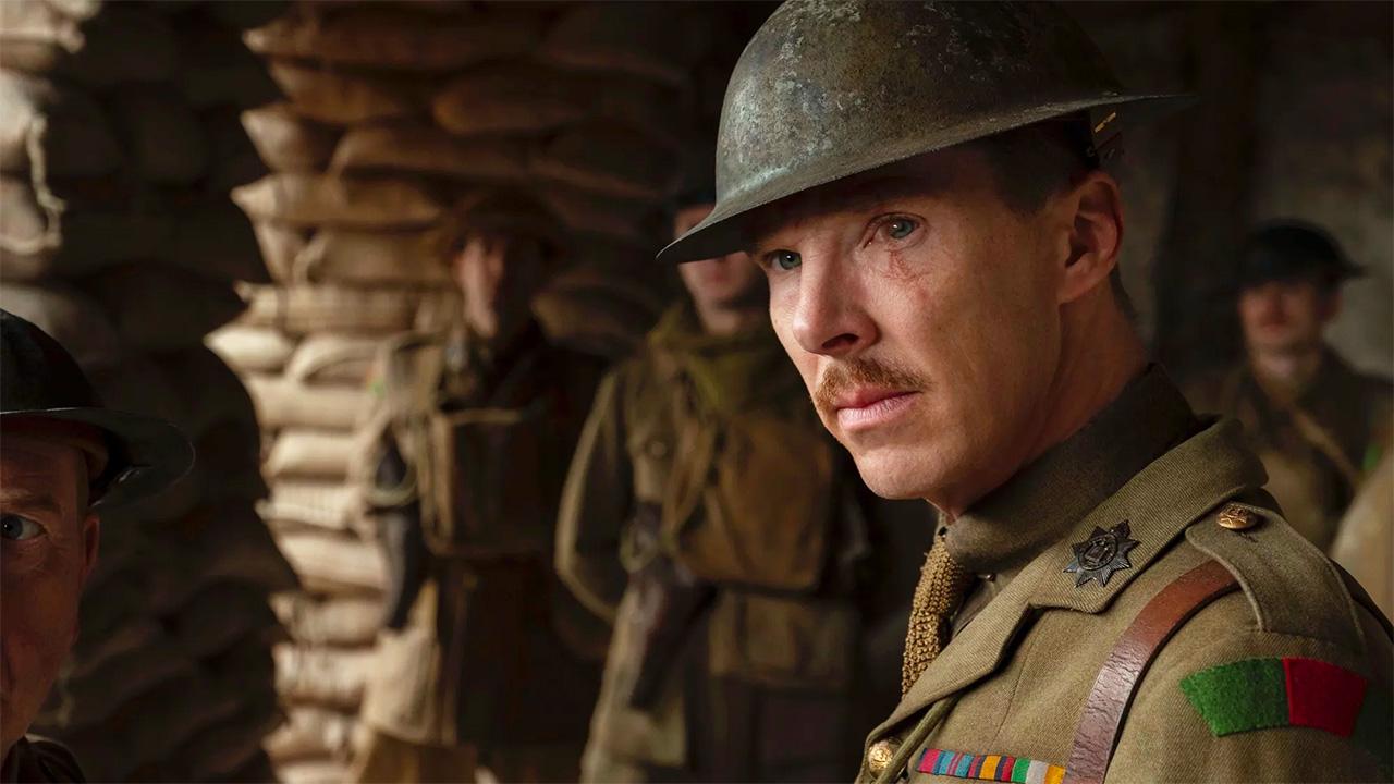 In foto Benedict Cumberbatch (44 anni) Dall'articolo: 1917, un piano-sequenza eroico che sposta più in là il fronte della Grande Guerra al cinema.
