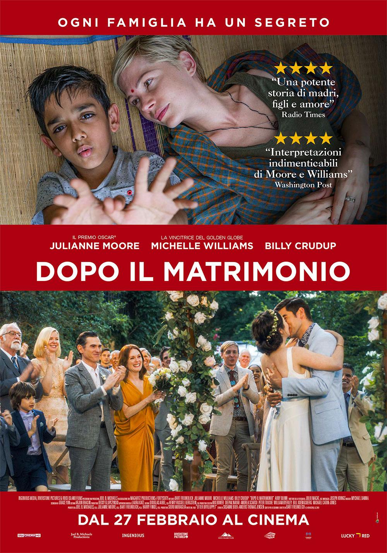 In foto Michelle Williams (40 anni) Dall'articolo: Dopo il matrimonio, il poster italiano del film.