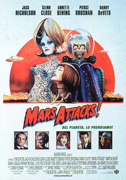 Locandina italiana Mars Attacks!