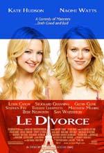 Poster Le divorce  n. 0