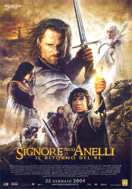 Locandina italiana Il signore degli anelli - Il ritorno del re