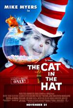 Poster Il gatto e il cappello matto  n. 1