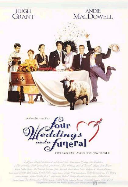 poster 2 - quattro matrimoni e un funerale