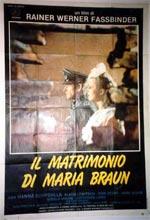 Locandina Il matrimonio di Maria Braun