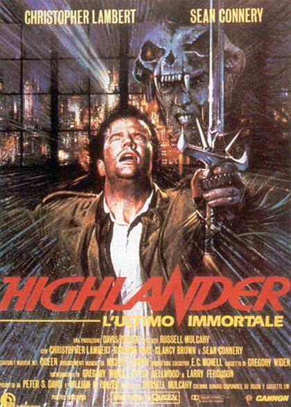Locandina italiana Highlander - L'ultimo immortale