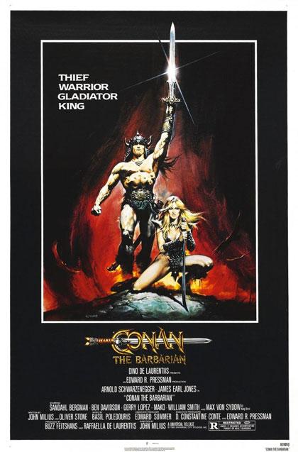 Locandina italiana Conan il barbaro