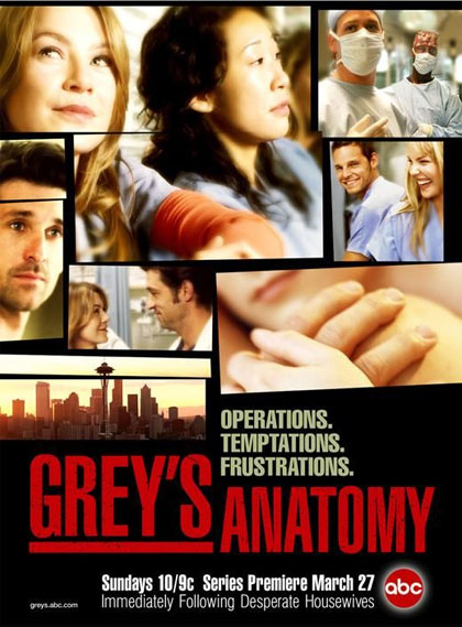 Locandina italiana Grey's Anatomy - Stagione 3