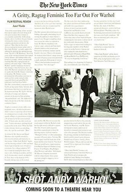 Locandina italiana Ho sparato a Andy Warhol