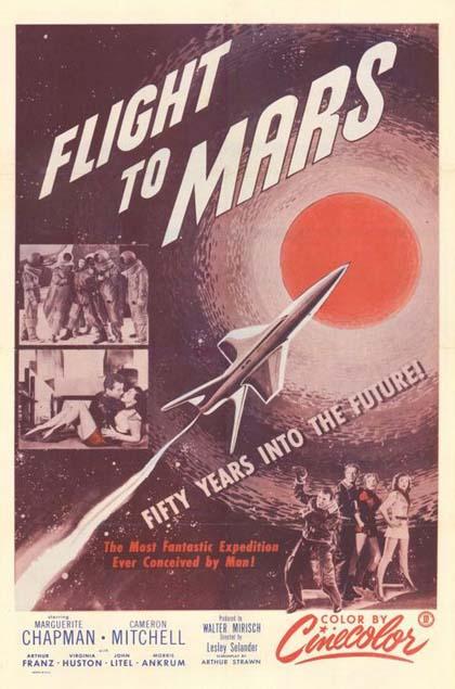 Locandina italiana Volo su Marte