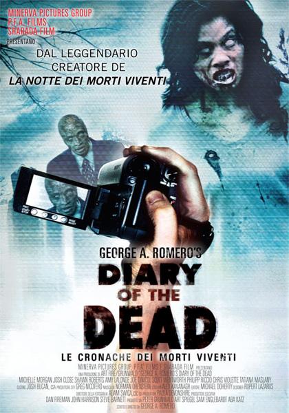 Locandina italiana Diary of the Dead - Le cronache dei morti viventi