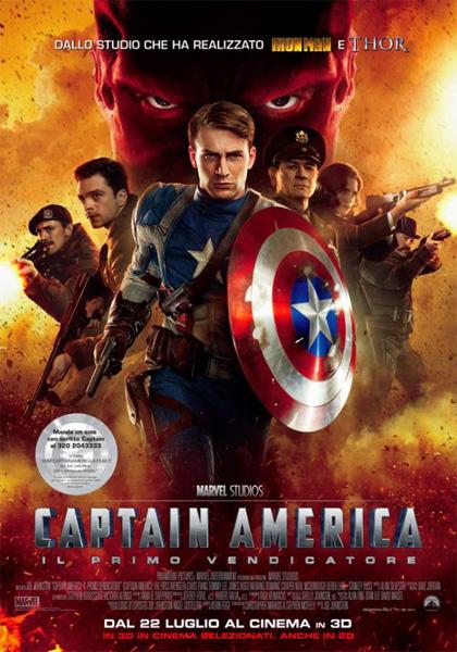 Locandina italiana Captain America: Il primo vendicatore