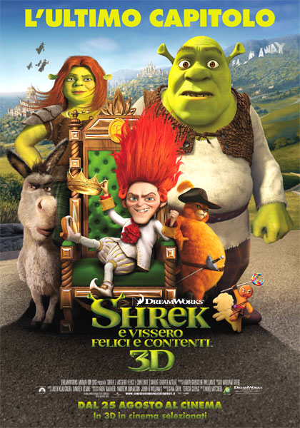 Locandina italiana Shrek e vissero felici e contenti