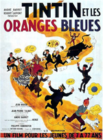 Poster Tintin et les Oranges Bleues  n. 0