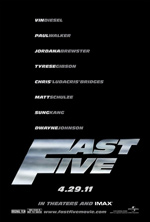 Poster Fast & Furious 5  n. 1