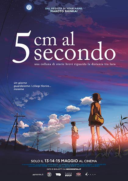 """locandina - """"5cm al secondo"""", una storia di lontananza, nei cinema a maggio"""
