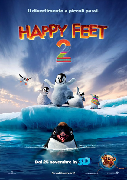 Locandina italiana Happy Feet 2 in 3D