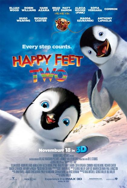 Poster Happy Feet 2 in 3D
