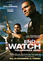 Locandina End of Watch - Tolleranza Zero