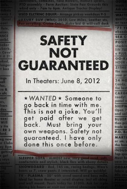 Locandina italiana Safety Not Guaranteed