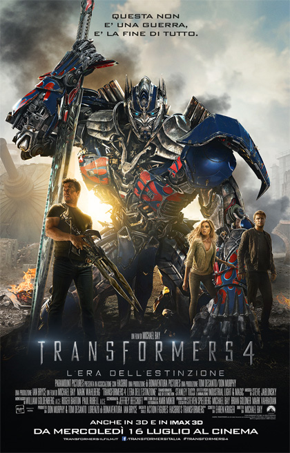 Trailer Transformers 4 - L'era dell'estinzione